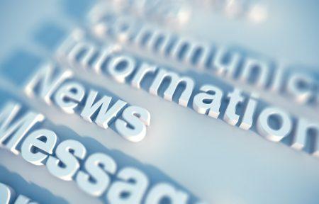 """Abgebildet sind Schriftzüge wie """"Information"""", """"News"""" oder """"Message""""."""