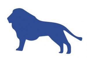 Abgebildet ist ein Löwe.