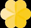 5FachPostkarte-BLUME-Gelb