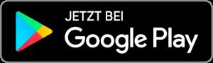 """Button mit der Aufschrift """"Jetzt bei Google Play"""" und dem Google Play Zeichen."""